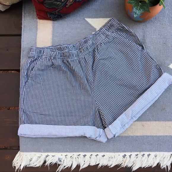 Vintage Pants - Vintage High Waisted Gingham 80s 90s Shorts